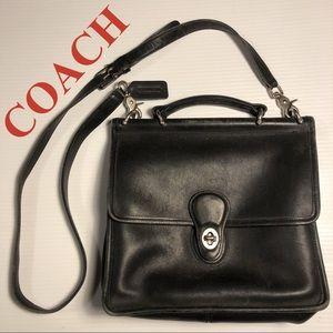 COACH Willis vintage shoulder crossbody Black Bag